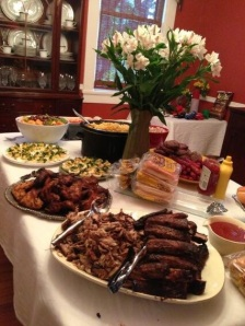 Best baby shower ever, so much homemade bbq